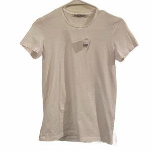 NWT ACNE Bliss C Base crew neck t-shirt white